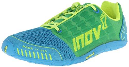 Zapato De Entrenamiento Cruzado Inov-8 Para Mujer Bare-xf 210 Verde / Azul / Amarillo
