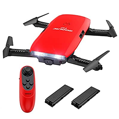 GoolRC T47 FPV Drone Foldable with Wifi Camera Live Video 2.4G 4 Channel 6 Axis Gravity Sensor RC Selfie Quadcopter RTF With Bonus Batter from GoolRC