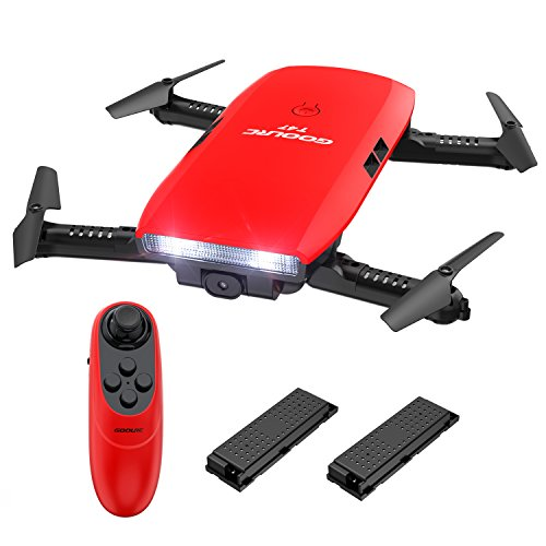 GoolRC T47 FPV Drone Foldable with Wifi Camera Live Video 2.4G 4 Channel 6 Axis Gravity Sensor RC Selfie Quadcopter RTF With Bonus Battery