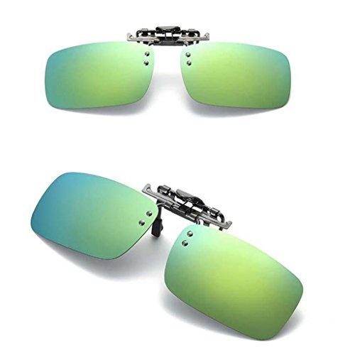 Solar UV para Clip Regalo Protecciójn de Baosity Gafas Hombre con 400 Sol Mujer Lentes Oro Polarizadas B zxvBX