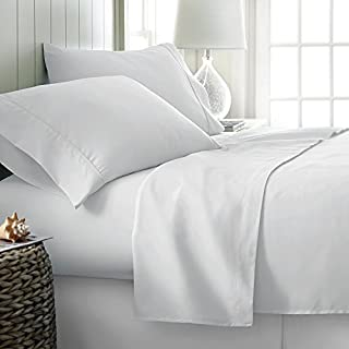 1000 Thread Count 100% Long Staple Egyptian Pure Cotton – Sateen Weave, Set of 2 Queen Silky Soft & Smooth White Pillow Cases