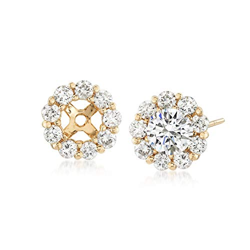 Ross-Simons 1.00 ct. t.w. Diamond Earring Jackets in 14kt Yellow Gold