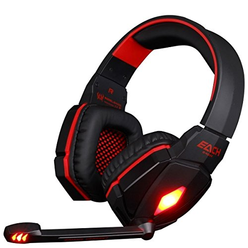 Bestland KOTION EACH G4000 Gaming Headset Professional Over Ear Stereo 3.5mm Plug Gaming Headphone with Mic Volume…