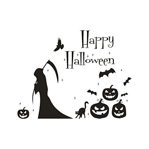 Decor Clearance KIKOY Happy Halloween Pumpkin Bone Wall Sticker Window Home Decoration -