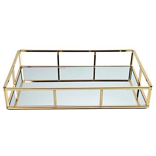 YoleShy Gold Mirror Tray, 11.8