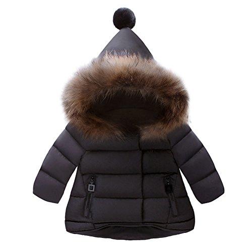 Xuba Bebé Niños Niñas Moda Cómodo Snowsuit Invierno Cálido Cuello Suave con Capucha Chaqueta a Prueba de Viento Prendas...