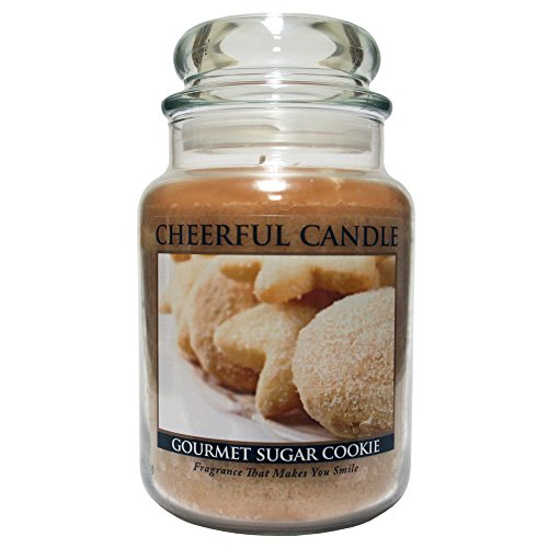 A Cheerful Giver Gourmet Sugar Cookies Jar Candle, 24-Ounce