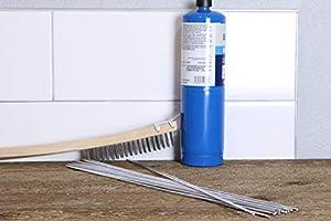 2mm 13 inch 20 Pack Universal Low Temperature Aluminum Repair Rods No Welding Fix Cracks Drill Tap Polish or Paint Silver Aluminum Welding Rods