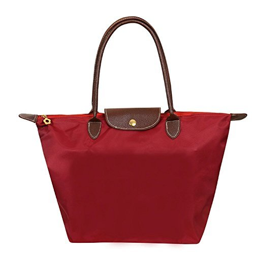 Cunada® Women Fashion Hobo Bag Large Tote Red Shoulder Handbag