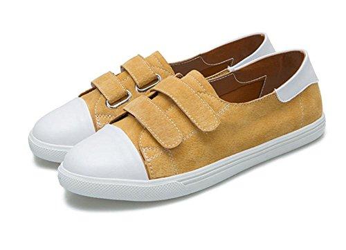 Frau flache Schuhe Student Schuhe fallen Turnschuhe Freizeitschuhe yellow