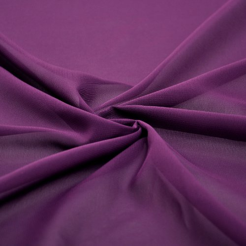 Chiffon Dress A Length Knee Purple Grape Adorona Women's Line WO4xWfv