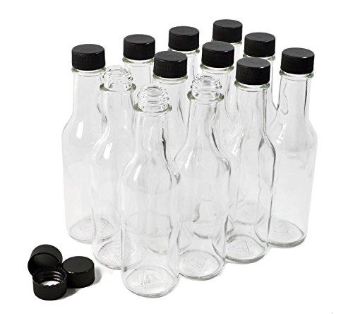 Clear Glass Woozy Bottles, 5 Oz - Case of (150 Ml Case)
