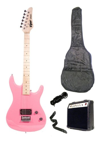 Directly Cheap 6 String Electric Guitar Pack, Right Handed, Pink, Full (000-BT-GE93CO-PK+DVD)