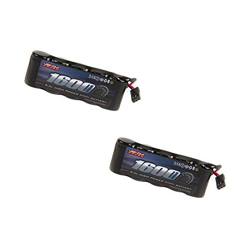 Venom 6v 1600mAh 5-Cell Flat Receiver NiMH Battery x2 - 5 Cell Flat