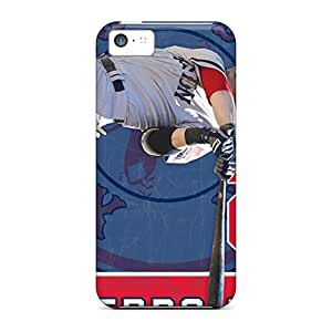 Awesome Boston Red Sox Flip Cases With Fashion Design For Iphone 5c