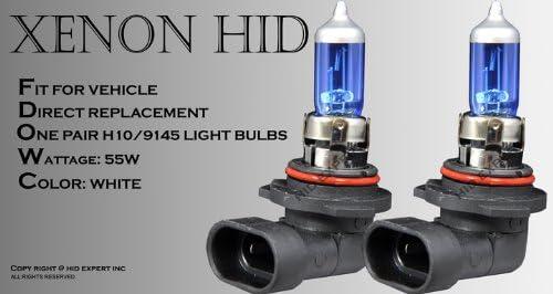 H10// 9145 55W pair Fog Light Xenon HID Super White Replacement Bulbs