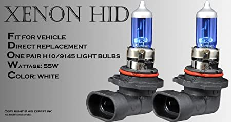 H10 Light Bulb: Amazon.com: H10/ 9145 55W pair Fog Light Xenon HID Super White Replacement  Bulbs: Automotive,Lighting