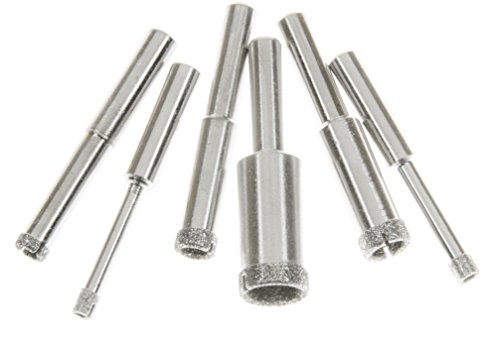 SE DH6HS Diamond Hole Saw Set with 80 Grit and 1/4
