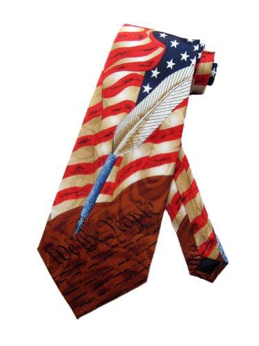 Steven Harris Mens US American Constitution Necktie - Brown - One Size Neck Tie]()
