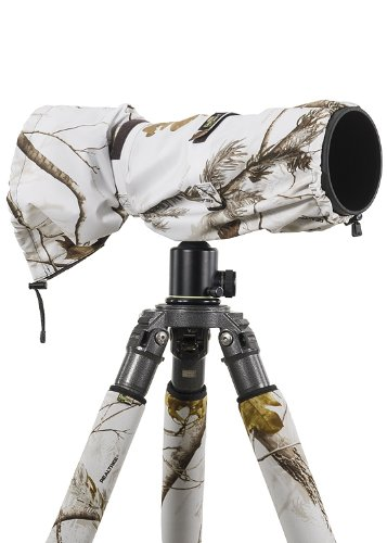 LensCoat Raincoat RS for Camera and Lens Cover Sleeve Protection, Large (Realtree AP Snow) LCRSLSN