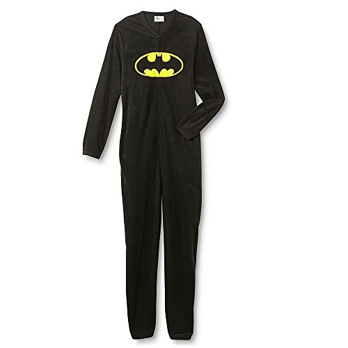 DC Comics Batman Young Men's One-Piece Pajamas (M, Black)]()