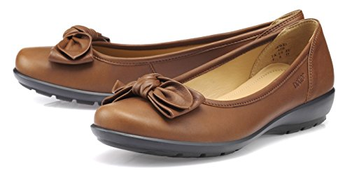 Brown Ballet Tan Dark Flats EXF Hotter Women's Jewel qgXpn6S