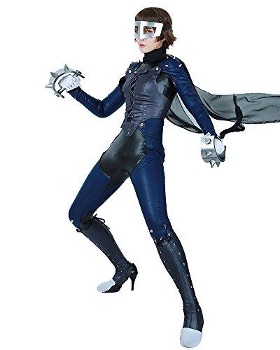 Miccostumes Womens Makoto Nijima Phantom Thief Cosplay Jumpsuit With Mask  Women L