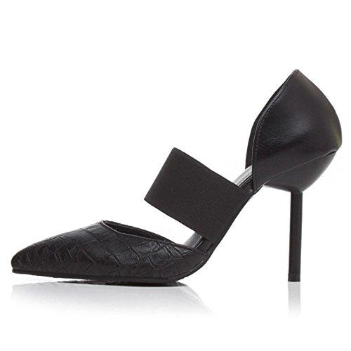 Women RizaBina Fashion Pumps Shoes Stiletto Black Yrrx4z