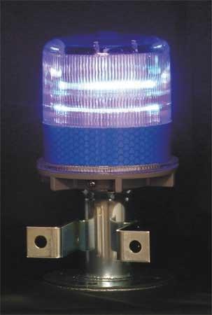 Warning Light, (4) LED, Blue, Solar NiMH