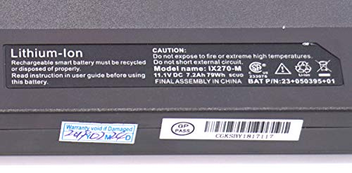 TYJYUN IX270-M Laptop Battery 11.1V 79Wh 7200mAh Compatible with Itronix GoBook XR-1 IX270 IX270-010 23+050395+01 Series Notebook by TYJYUN (Image #2)