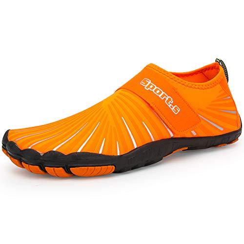 IKENIP Mens Womens Water Shoes Barefoot Quick Dry Aqua Wide Toe for Swim Yoga Exercise Hiking Beach Pool