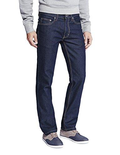 Jeans para Straight 002 Dark Azul Oklahoma Blue Vaqueros Hombre dqSvdtw