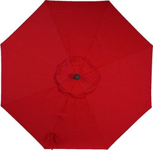 9ft 8 Ribs Market Umbrella Replacement Canopy (Sunbrella- Jockey Red) (Sunbrella Covers Canopy)