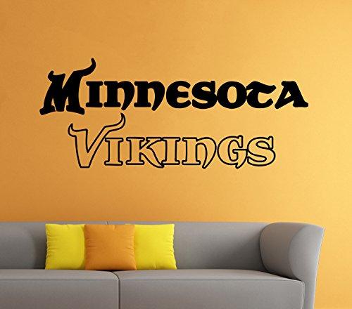 Minnesota Vikings Vinyl Decal NFL Wall Sticker Emblem Football Team Logo Sport Home Interior Removable Decor