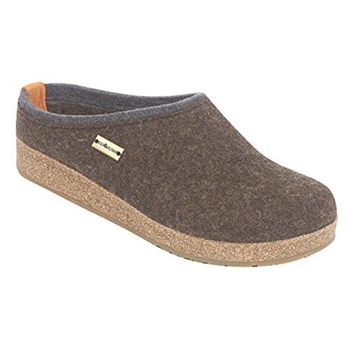 Haflinger Womens Kris Wool Clog Shoes  Chocolate  Eu 37 Ws 6
