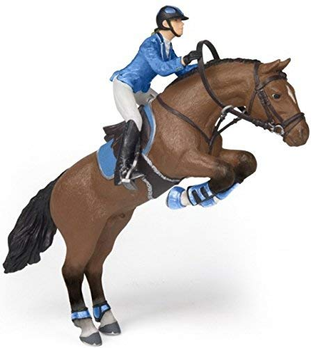 (Papo Jumping Horse with Riding Girl - Toy Figurine Set (2 Piece),)
