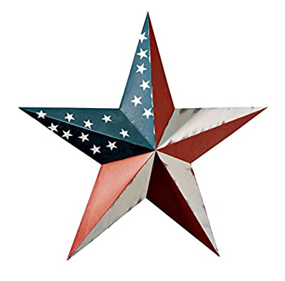 Miles Kimball 341684-840853123187 Maple Lane CreationsTM American Barn Star, One Size Fits All Multi