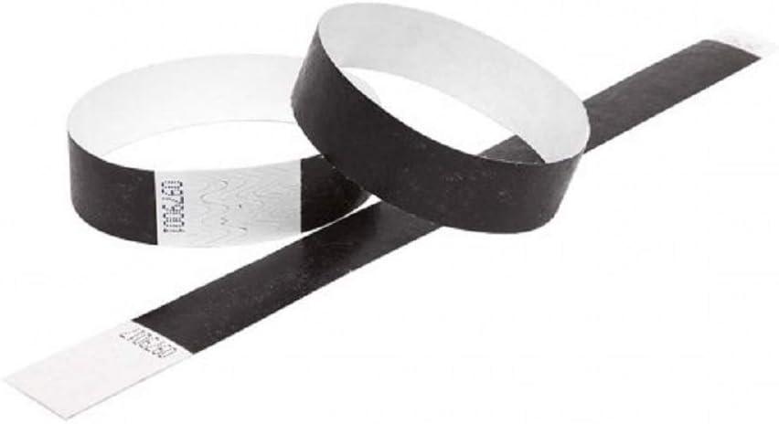 "100 Plain Aqua 1/"" Tyvek Paper Wristbands for Events,Festivals,Parties"