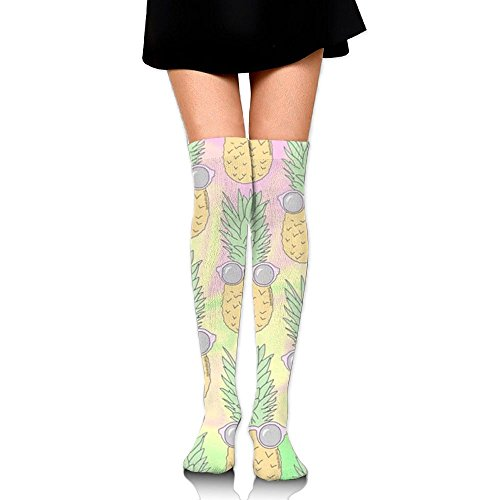 Sunglasses Pineapple Womens Cozy Cool Athletic Girls Compression Skirt Knee Thigh Socks For Yoga Hiking Cycling Running - Sunglasses Canada Fox