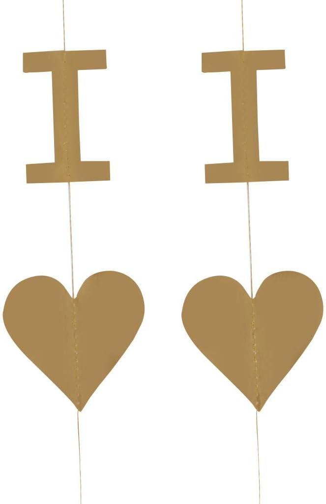 Blesiya Je taime Et Banderoles De Coeur Banni/ère Valentines Suspendus D/écor De F/ête Guirlande Miroir Argent
