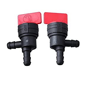 "HIPA (Pack of 2) 1/4"" 90 Degree Fuel Shut Off Valve for Briggs & Stratton 698181 494539 697944 Tecumseh 35857 by HIPA"