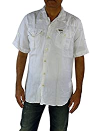 SCOTCH & SODA Mens Short Sleeve Shirt White Large TRIM FIT