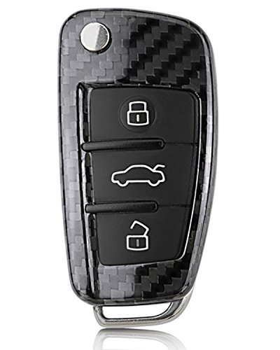 Wiipro Premium ABS Remote Flip Key Cover Fob Holder Case Shell for Audi Car Styling A3 A6 A4 TT Q3 Q5
