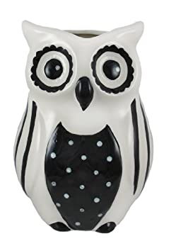 Young's Ceramic Owls Vase, 8.25-Inch