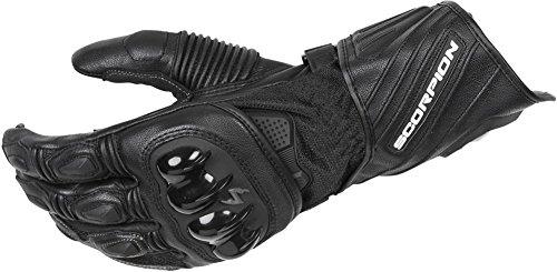 Scorpion Havoc - Top Grain Goatskin Leather Motorcycle Gauntlet Glove - Black - XXX-Large