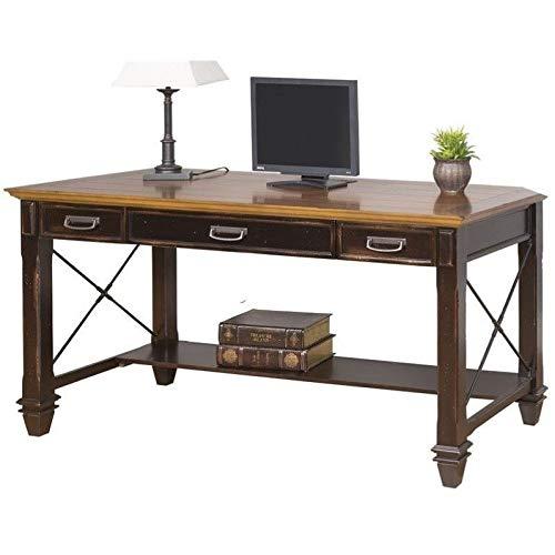 Martin Furniture Hartford Writing Desk, Brown (Writing Desk With Bookcase)