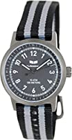 Vestal Men's ABZ3C01 Alpha Bravo Zulu Stainless Steel Watch with Canvas Band from Vestal