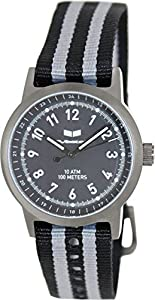 Vestal Men's ABZ3C01 Alpha Bravo Zulu Stainless Steel Watch with Canvas Band from Vestal