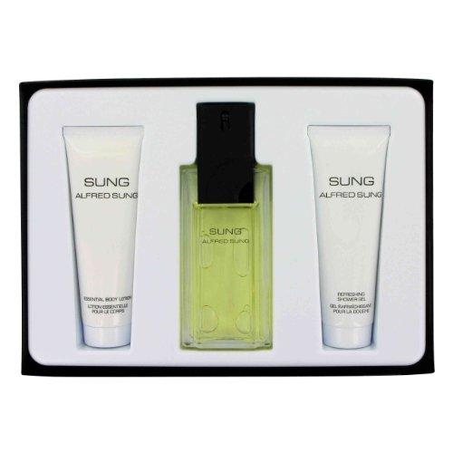 Alfred SUNG by Alfred Sung for Women. Gift Set - 3.4 oz Eau De Toilette Spray + 2.5 oz Body Lotion + 2.5 oz Shower Gel