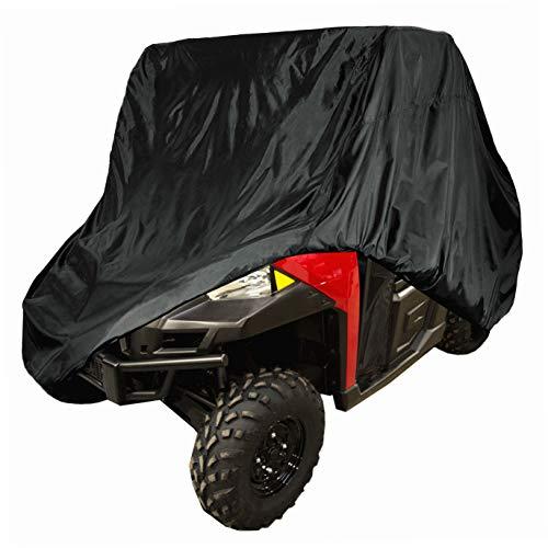 Tokept Waterproof UTV Cover, Heavy Duty Black Protects 4 Wheeler From Snow Rain Wind or Sun,114.17